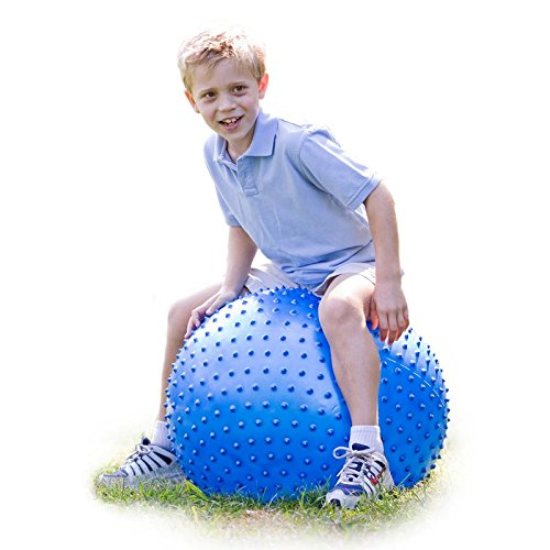 28-Inch Large Tactile Sensory Ball with Bumps for Children, Kids, and Teens - Strengthen Core Muscles, Motor Skills, and Socialization, and Enhances Tactile Development ()