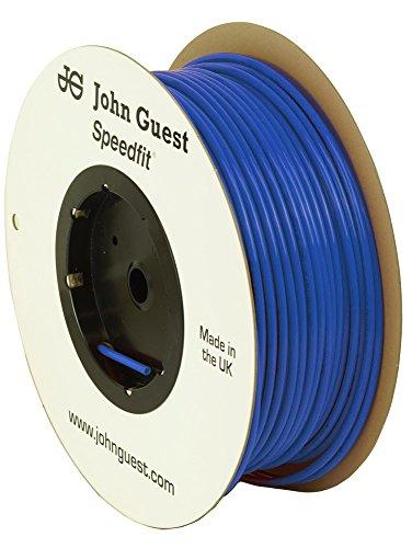 John Guest Food Grade Polyethylene Tubing For Reverse Osmosis systems - 10 Feet (3/8 Inch OD, Blue) Food Grade Polyethylene