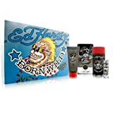 Ed Hardy Born Wild for Men 4 Piece Set Includes: 3.4 oz Eau de Toilette Spray + 0.25 oz Eau de Toilette Travel Spray + 3.0 oz Hair & Body Wash + 2.75 oz