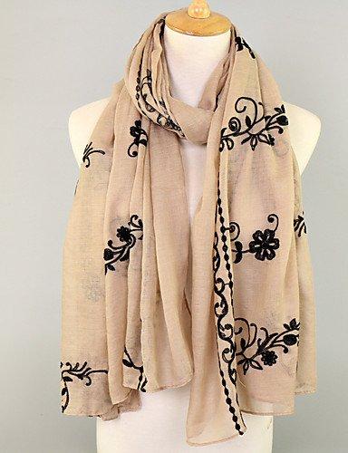 Garden Floral 90Cm Women'S Khaki Style Cotton Scarf180 Fashion ZHUDJ Thin qXtwgPUx