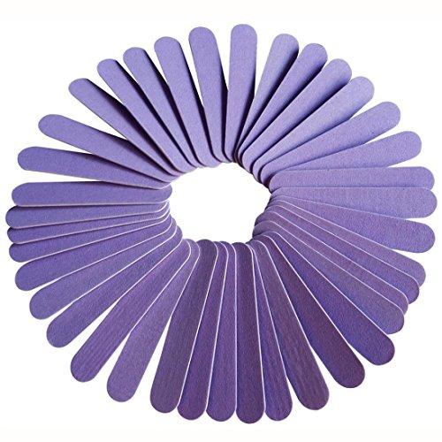 DDLBiz 20PC Nail Art Manicure Buffer Buffing Sanding Files Crescent Sandpaper Grit Nail Tool (Purple Nail File)