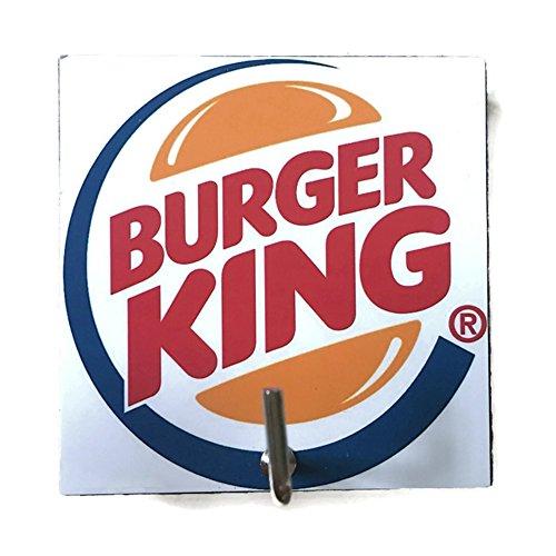 [Agility Bathroom Wall Hanger Hat Bag Key Adhesive Wood Hook Vintage Burger King Hamburger Logo's] (French Fries Costume Toddler)