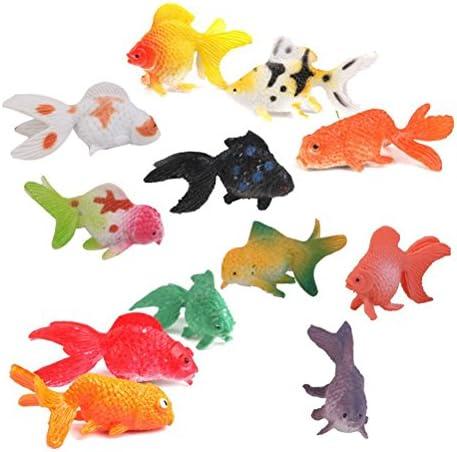 BESTZY 66pcs Animali Marini Plastica per Bambini Pesciolini Giocattoli Perfetti Come Gioco Bagnetto Gioco Educativo Decorazioni Cupcake