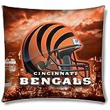 """Northwest NFL Cincinnati Bengals 18"""" x 18"""" Pillow"""
