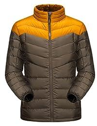 Men's Packable Winter Down Jacket Patchwork Warm Waterproof Outdoor Sportswear