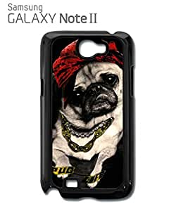 Pug Life Dog Funny Mobile Cell Phone Case Samsung Note 2 Black