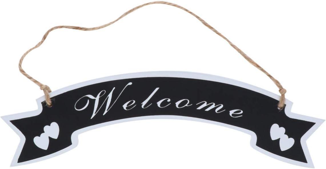 NUOBESTY Letrero de Puerta de Entrada Rústica Letrero de Madera Clásico Placa de Puerta de Bienvenida de Moda Etiqueta Colgante de Bienvenida Decoraciones Colgantes de Puerta Creativa