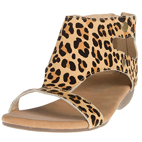 Corkys Footwear Womens Ladies Animal Print Sandals 6 Medium Leopard
