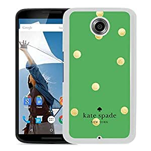 Fashionable And Unique Kate Spade Cover Case For Google Nexus 6 White Phone Case 16