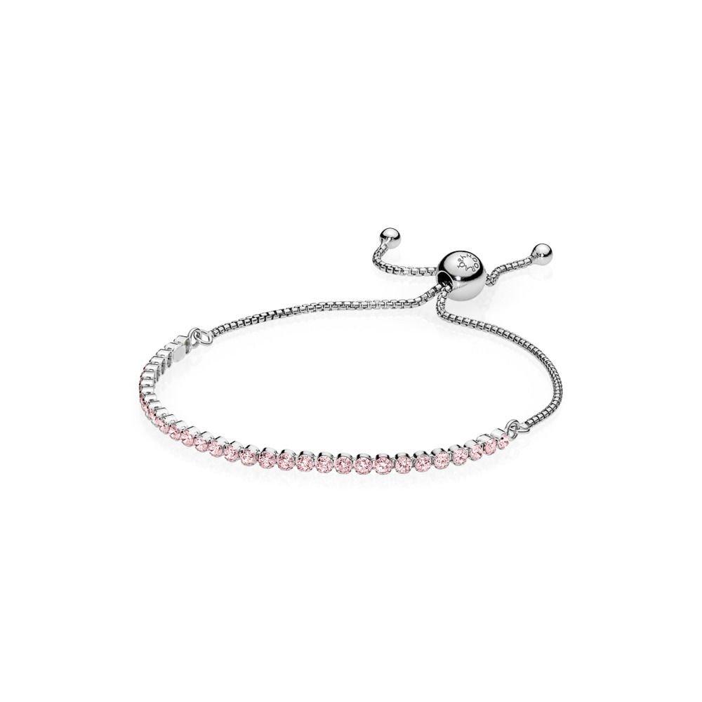 PANDORA Pink Sparkling Strand Bracelet, Pink CZ 590524PCZ