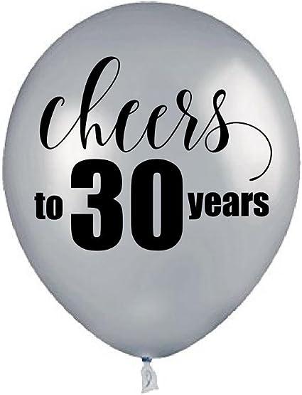 10pcs Black White Latex Balloons Printed Cheers Bachelorette Party Decor Supplie
