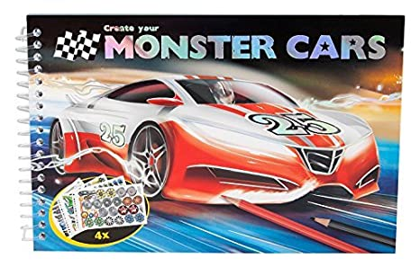 Amazon Com Monster Cars Pocket Colouring Book By Unknown Toys Games
