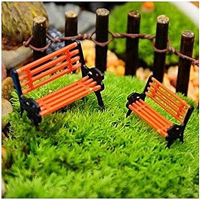 WHALE-FALL Mini Adorno de jardín en Miniatura, Banco de Parque para Manualidades, decoración de casa, Banco, decoración de jardín y Patio, K1: Amazon.es: Jardín