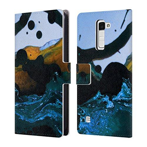Price comparison product image Official Demian Dressler Event Horizon Series Memento Mori Leather Book Wallet Case Cover For LG K10 / K10 Dual SIM