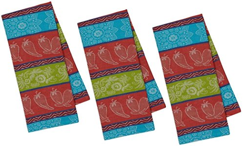 (DII Chili Pepper Jacquard Towel - Set of 3)