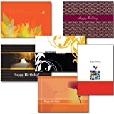 6-Design Birthday Greeting Card Assortment. A 30-Card Box Set of 6 Different Designs and Verses Suitable for Personal or Business Use.