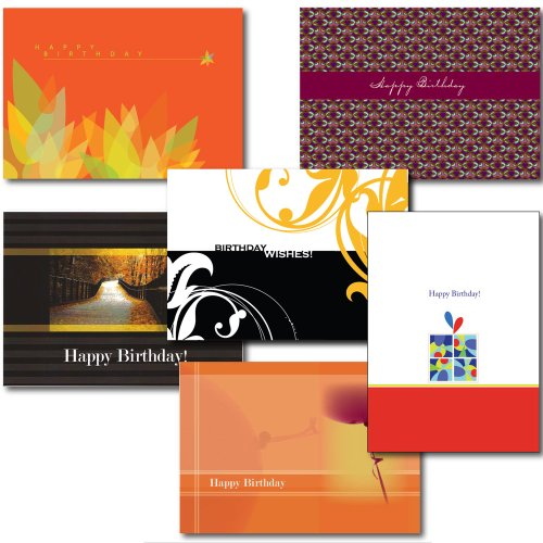 6-Design Birthday Greeting Card Assortment. A 30-Card Box Set of 6 Different Designs and Verses Suitable for Personal or Business Use. by ZilloMart
