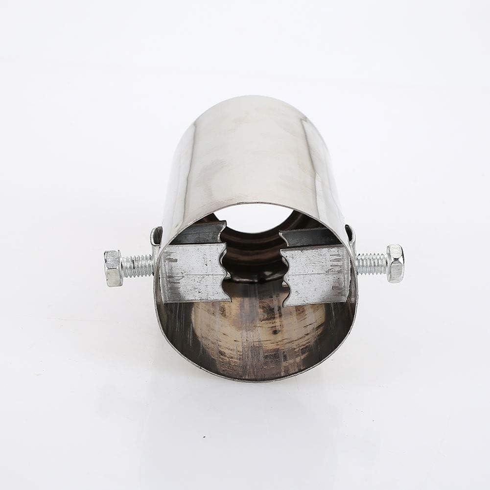 ZZH Diametro Coda Scarico Auto 51-51mm Tubo di Scarico marmitta terminale in Acciaio Inox