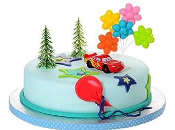 Partydeko Stefino Tortendeko Cars 4 Teiligtortenaufleger 1