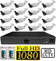 USG 1080P PoE IP CCTV Kit: 16x 1080P IP PoE 2.8-12mm Bullet Cameras + 1x 24 Channel 1080P NVR + 2x 3TB HDD *** High Definition Video Surveillance For Your Home or Business!