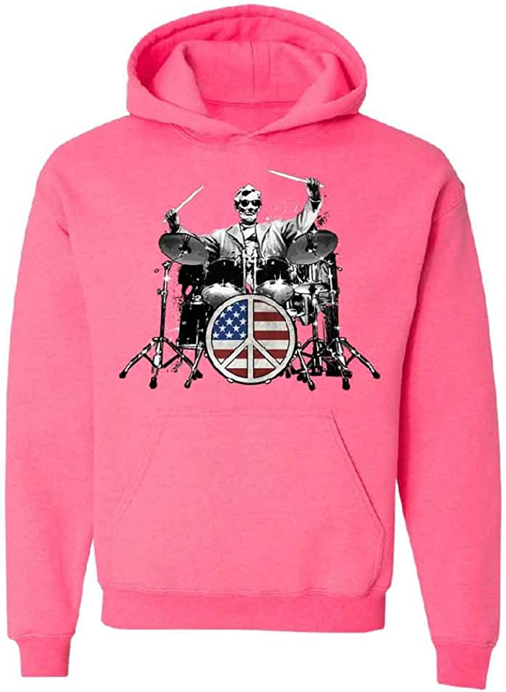Rock 101 Drummer Abraham Lincoln Unisex Hoodie 4th of July Sweater