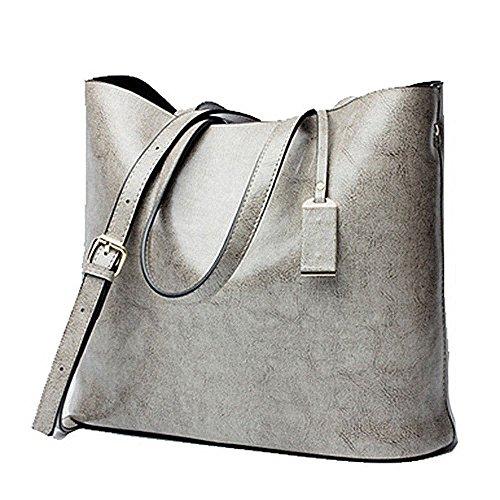 YANGYANJING - Bolso de tela para mujer gris gris gris