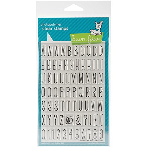 Lawn Fawn Clear Stamps - Violet's ABC's Stamps ()