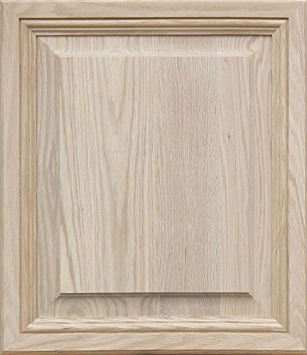 Unfinished Oak, Mitered Raised Panel Cabinet Door by Kendor, 22H x 19W