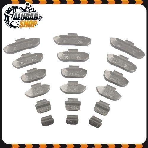 5-30g Pesi di ictus Pesi equilibratura Pesi di equilibrio Assortimento per Cerchi in acciaio 600 Pezzi (ogni 100 di 5g, 10g, 15g, 20g, 25g e 30g) Haskyy