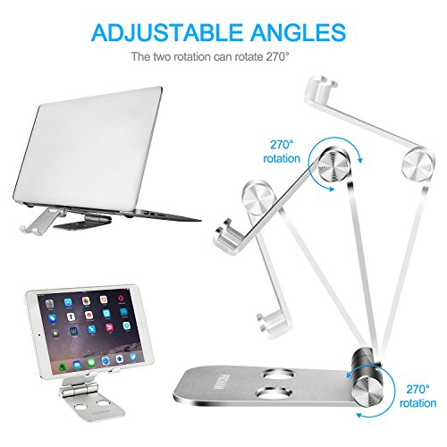 PECHAM Multi-Angle Stand for Cell Phone, Desk Stand Mount for Nintendo Switch, Iphone X 8 7 6 6s Plus 5 5s 5c, SamSung, Galaxy, Android Smartphones, Tablets, Universal Phone Holder- Silver by PECHAM (Image #2)