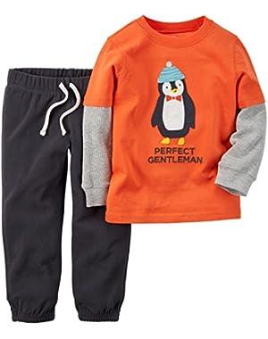 Carter's Baby Boys' 2 Piece Set-Orange