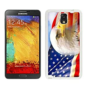 Durable Case American Flag 4 Samsung Galaxy Note 3 Case in White