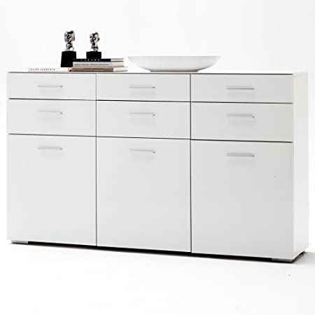 Portland Xxl Chest Of Drawers Sideboard White High Gloss Varnished