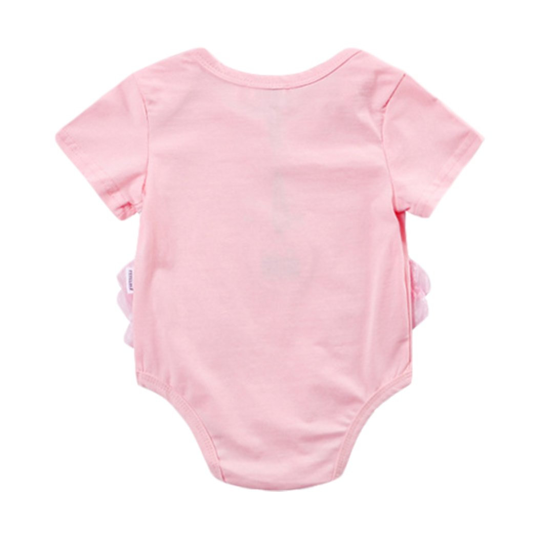 e98bef88a274 Amazon.com  Newborn Baby Girls Cotton Short Sleeve Bodysuit Flamingo  Jumpsuit Romper Coverall Outfits  Clothing