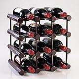 Wine Enthusiast 12 Bottle Modular Wine Rack, Mahogany