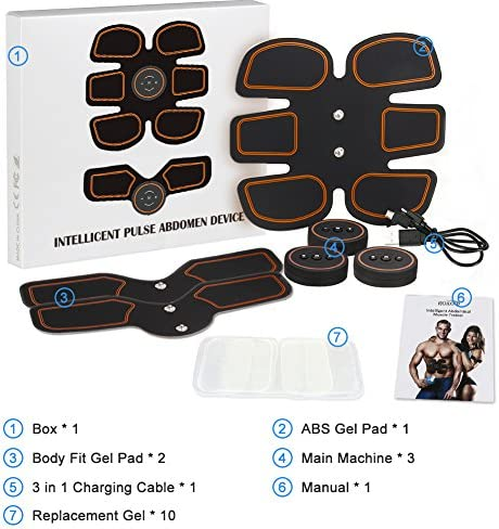 ROKOO Ultimate Abs Stimulator Muscle Stimulator Equipment for Men Women at Home Gym Office Travel 7