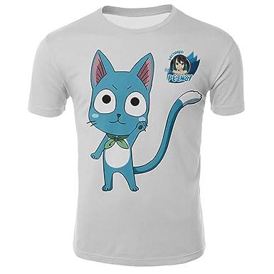 Lzh3D 3D Graphic O Neck Camiseta para Hombre Manga Corta Jumper ...