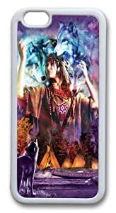 For SamSung Galaxy S3 Case Cover -Spirit Maiden Native American Hard shell Silicone pc For SamSung Galaxy S3 Case Cover White