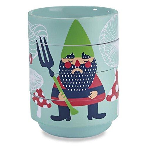 Woodland Garden Gnome - Kitsch'n Glam - Ceramic Stacking Bowls - Garden Gnome