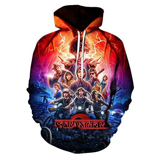 PMNADOU Novelty Stranger Things Season 2 New For 3d Hoodies Hoodie Sweatshirt Athletic Pullover