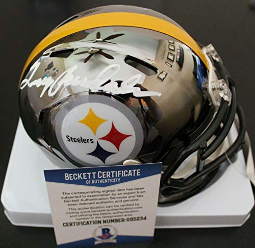 Terry Bradshaw Autographed Mini Helmet - Chrome W Beckett COA Proof G95234 - Beckett Authentication - Autographed NFL Mini Helmets