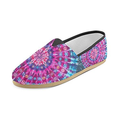 M-story Sneakers Moda Appartamenti Tie Dye Mandala Womens Classic Slip-on Scarpe Di Tela Mocassini
