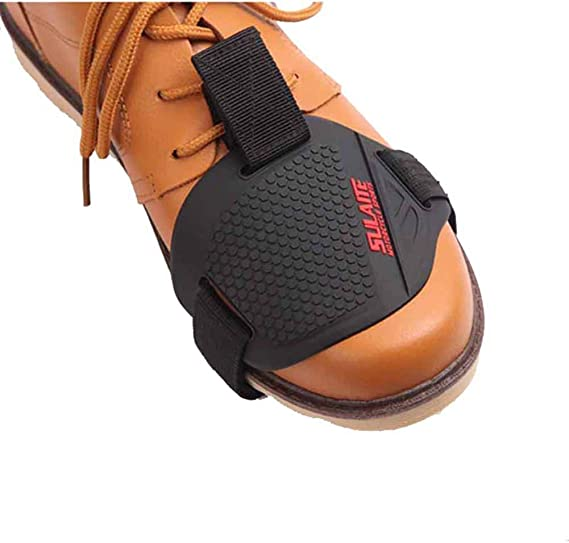 Premium PU Leather Motorcycle Shoe Boot Cover Shifter Scuff Marks Protector