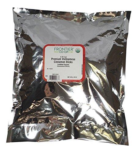 Frontier Cinnamon Sticks, Vietnamese Premium, 2 3/4'' 5% oil Certified Organic - (2.75 Cinnamon Sticks)