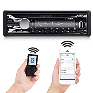 Bluetooth Car Stereo, AM/FM CD Receiver with Detachable Faceplate, Support USB/SD/AUX by AGPTEK