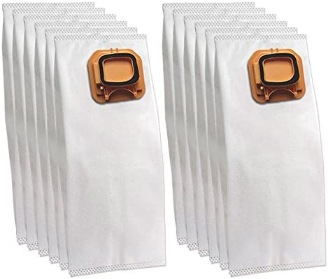 DLS 12 Bolsas (Microfibra) para aspiradora Vorwerk Folletto Kobold VK 140, 150, VK140, VK150, Blanco, pequeño
