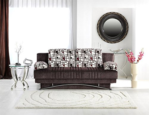 Fantasy Sofa Sleeper in Aristo Burgundy