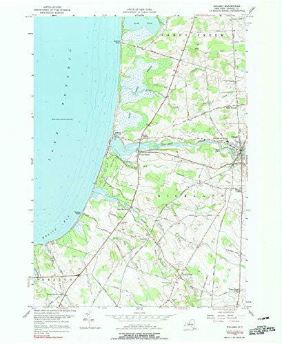 YellowMaps Pulaski NY topo map, 1:24000 Scale, 7.5 X 7.5 Minute, Historical, 1956, Updated 1990, 27 x 22.1 in - Paper