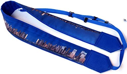 Landscape Camera Strap with Skyscrapers Code 00127 Durable Light Weight and Well Padded Camera Strap Blue DSLR//SLR Camera Strap City Camera Strap