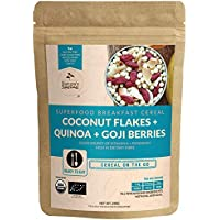 Nature's Superfoods Organic Breakfast Cereals: Coconut Flakes-Quinoa-Goji Berries, 290g